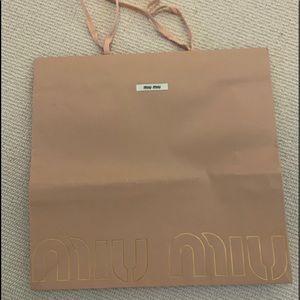 Miu Miu shopping bag